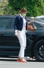 ELLEN POMPEO Arrives at Jessica The Clinic Nail Salon in West Hollywood 05/01/2021