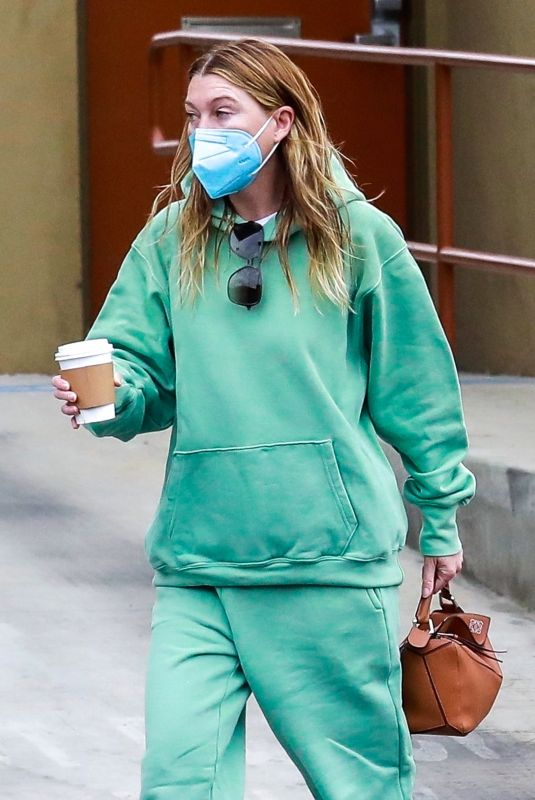 ELLEN POMPEO Out for Coffee in Los Angeles 05/16/2021