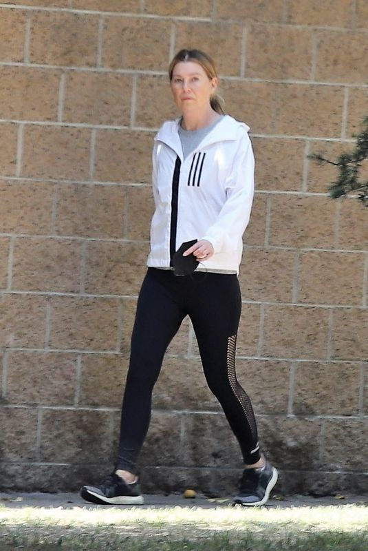 ELLEN POMPEO Out Hiking in Los Angeles 05/12/2021