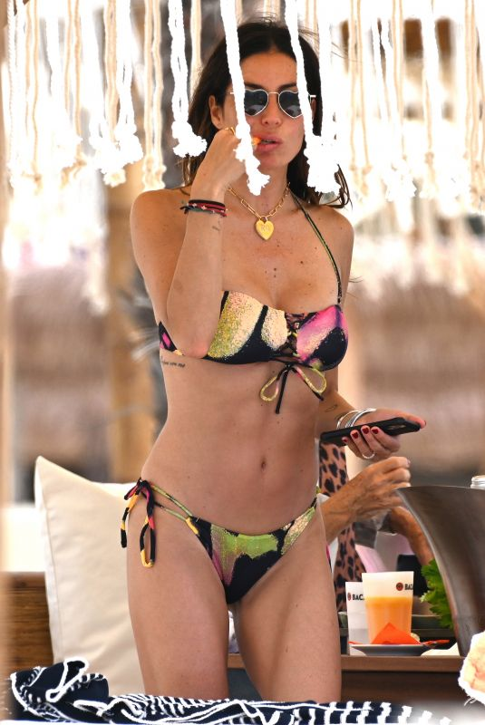 ELSABETTA GREGORACI in Bikini at a Beach in Forte dei Marmi 05/30/2021