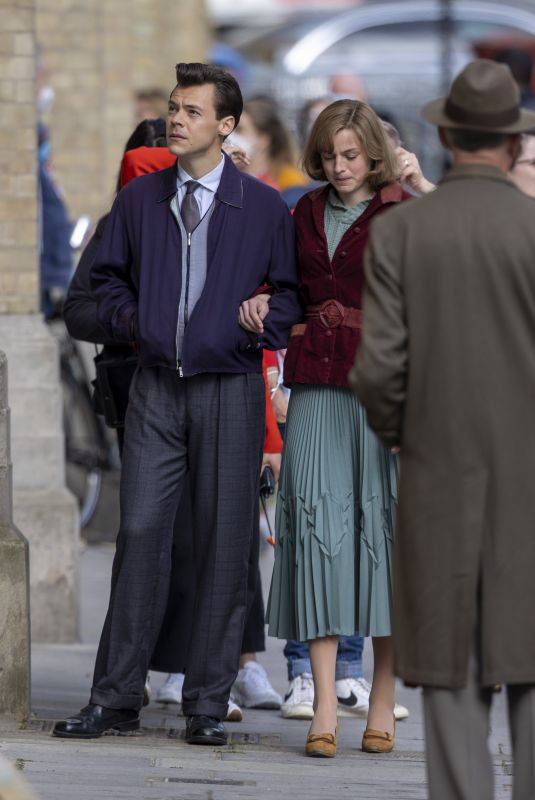 EMMA CORRIN and Harry Styles on the Set of My Policeman in Brighton 05/09/2021