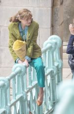 EMMA CORRIN and Harry Styles on the Set of My Policeman in Brighton 05/13/2021