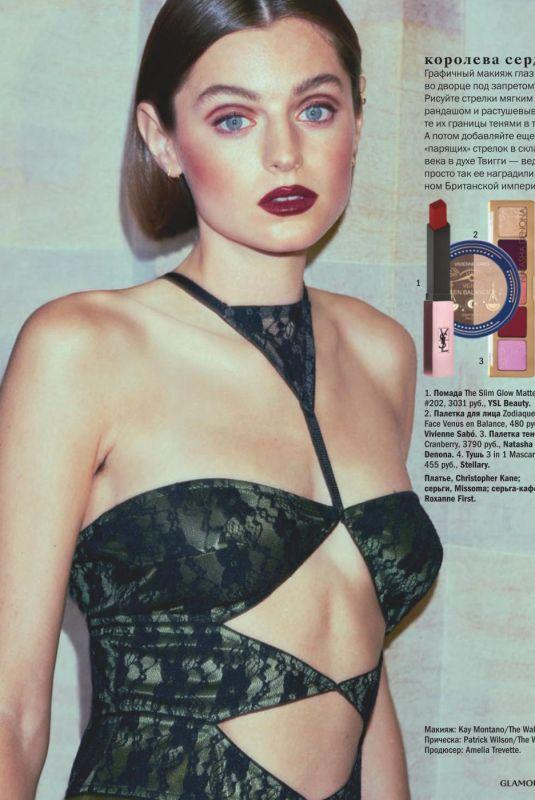EMMA CORRIN in Glamour Magazine, Russia January 2021