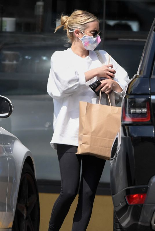 EMMA ROBERTS Out and About in Los Angeles 05/11/2021