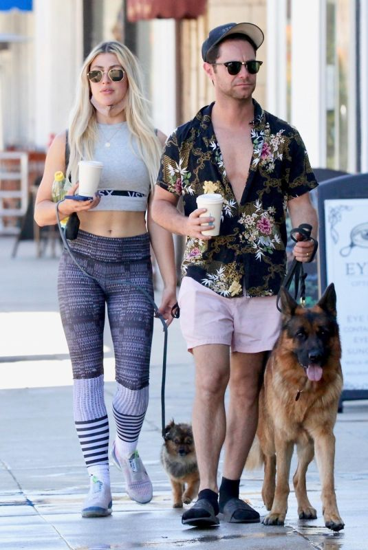 EMMA SLATER and Sasha Farber Out in Studio City 05/02/2021