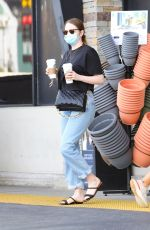 EMMA STONE Out for Coffee in Pacific Palisades 05/01/2021