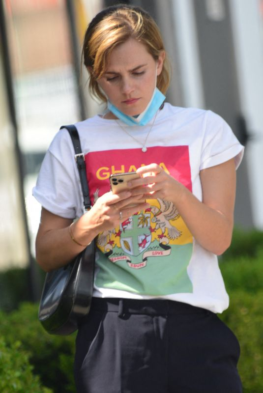 EMMA WATSON Out for Furniture Shopping in West Hollywood 05/05/2021
