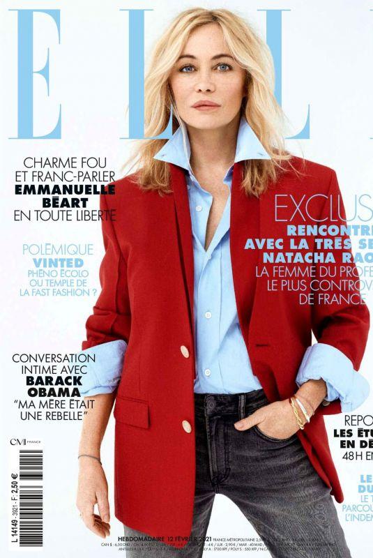 EMMANUELLE BEART in Elle Magazine, France February 2021