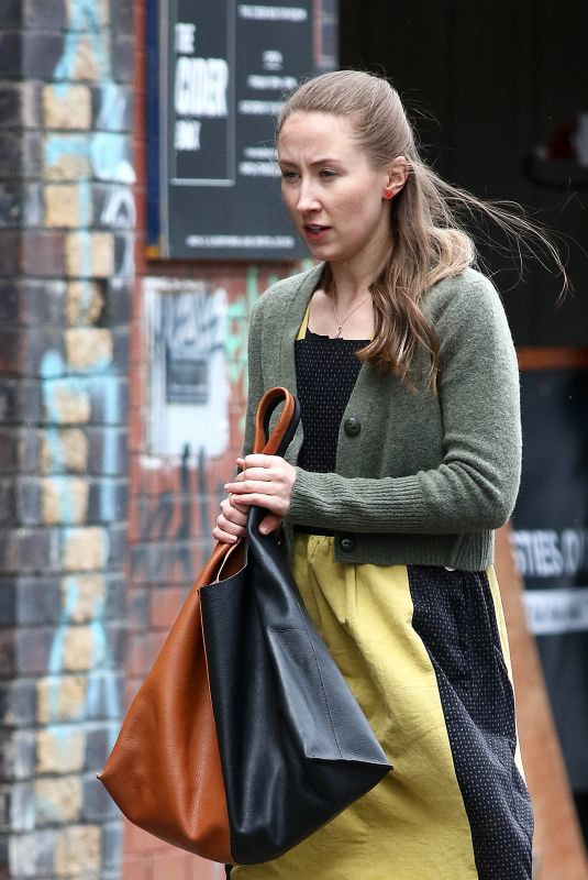 ERIN DOHERTY on the Set of New BBC and Amazon Prime Psychological Drama Chloe in Bristol 05/11/2021