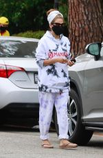 EVA MENDES Out and About in Los Angeles 05/10/2021