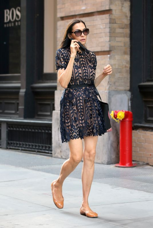 FAMKE JANSSEN Out and About in New York 05/21/2021