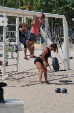 FERNANDA FLORES Workout at a Beach in Miami 05/23/2021