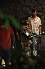 FRANCESCA FARAGO and Harry Jowsey at a Restaurant in Cancun 05/14/2021