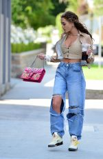 GEORGIA HARRISON in Ripepd Denim Out in Beverly Hills 05/10/2021