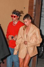 HAILEY and Justin BIEBER Out for Date Night in West Hollywood 05/03/2021