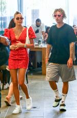 HAILEY and Justin BIEBER Out Shopping in Miami 05/01/2021