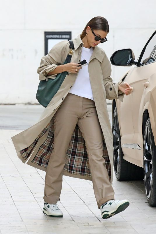 HAILEY BIEBER Arrives at a Business Meeting in Los Angeles 05/06/2021