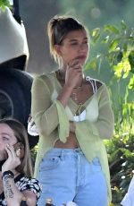 HAILEY BIEBER Visits husband Justin on the Set of a Music Video in Miami 05/02/2021