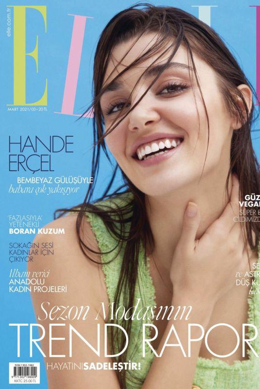 HANDE ERCEL in Elle Magazine, Turkey March 2021