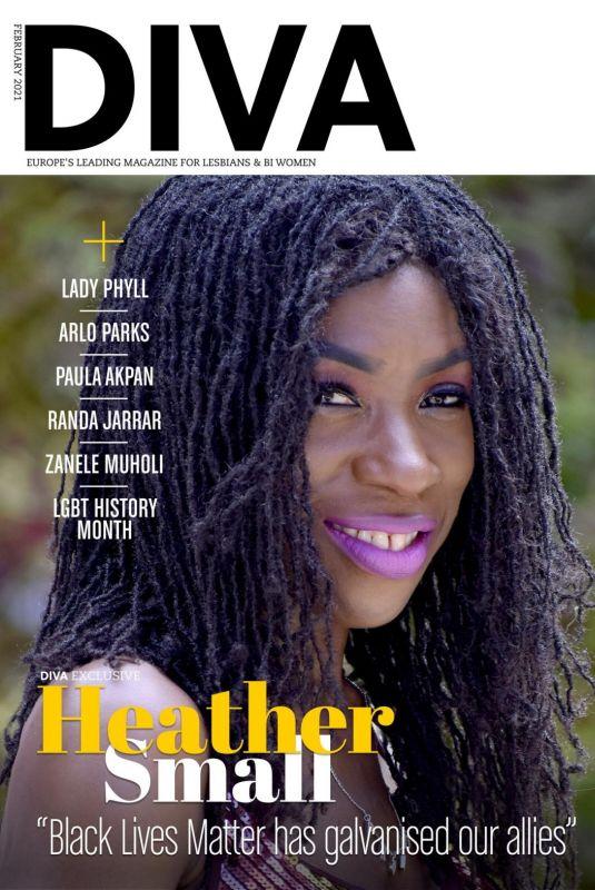 HEATHER SMALL in Diva Magazine, UK February 2021