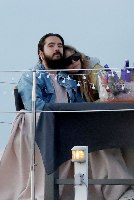 HEIDI KLUM and Tom Kaulitz at a Boat House Date 05/28/2021