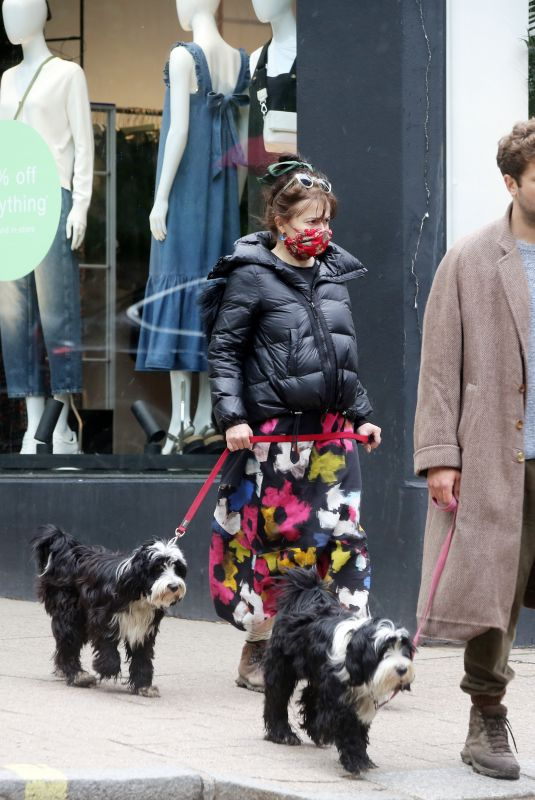 HELENA BONHAM CARTER and Rye Dag Golmboe Out with Their Dogs in London 05/18/2021