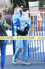 HILARY DUFF at a Farmers Market in Studio City 05/23/2021
