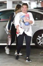 HILARY DUFF Leaves a Gym in Los Angeles 05/17/2021