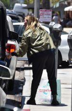 HILARY DUFF Leaves Susie Cakes Bakery in Studio City 05/21/2021