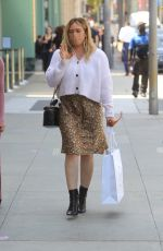 HILARY DUFF Out Shopping on Rodeo Drive in Beverly Hills 05/19/2021