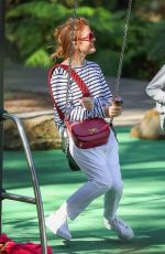 ISLA FISHER Out at a Park in Sydney 05/08/2021