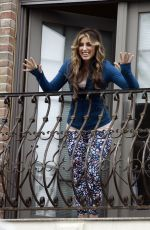 JENNIFER ESPOSITO on the Set of Ray Romano Directorial Project in New York 05/04/2021