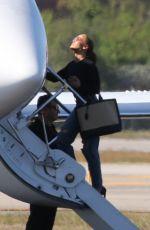 JENNIFER LOPEZ Boards a Private Jet in Miami 05/27/2021