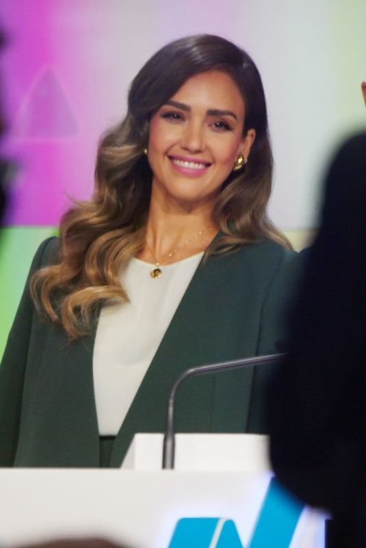 JESSICA ALBA at New York Stock Exchange 05/05/2021