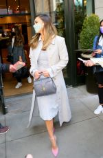 JESSICA ALBA Heading to Tonight Show Starring Jimmy Fallon in New York 05/06/2021
