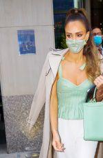JESSICA ALBA Leaves Her Hotel in New York 05/06/2021