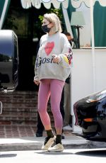 JESSICA HART at San Vicente Bungalows in West Hollywood 05/06/2021