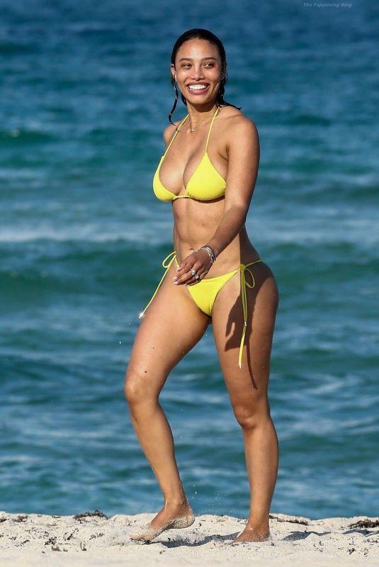 JESSICA LEDON at a Beach in Miami 05/26/2021
