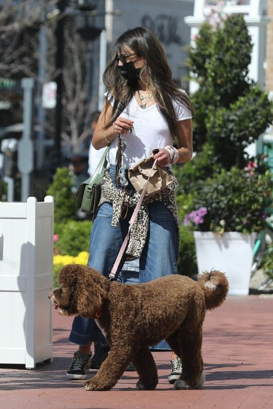 JORDANA BREWTSER Out with her Dog in Pacific Palisades 05/11/2021