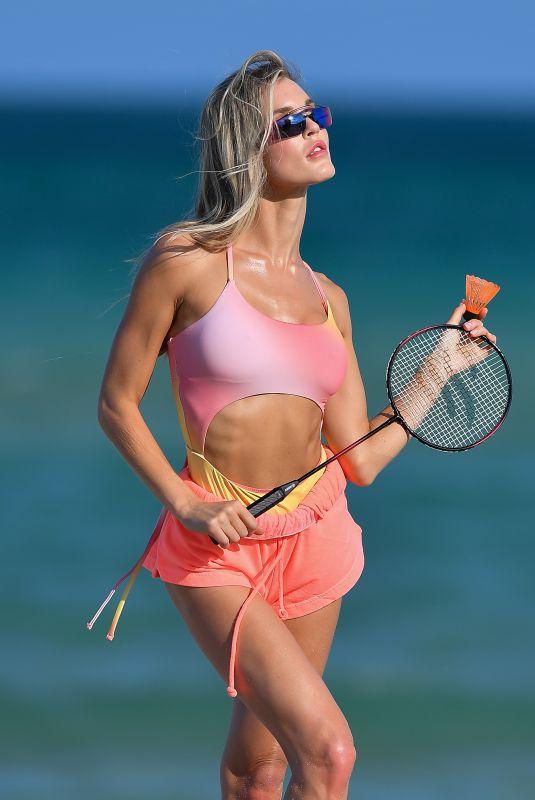 JOY CORRIGAN at a Photoshoot in Miami 04/30/2021