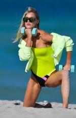 JOY CORRIGAN in Swimsuit at a Photoshoot in Miami Beach 05/05/2021