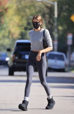 KAIA GERBER Heading to Pilates Class in West Hollywood 05/04/2021