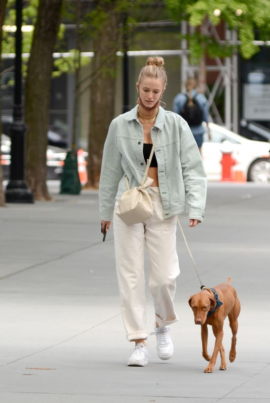 KATE BOCK Out with Her Dog in New York 05/16/2021