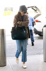 KATIE HOLMES at JFK Airport in New York 05/07/2021