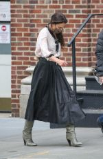 KATIE HOLMES Out and About in New York 05/03/2021