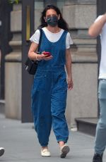 KATIE HOLMES Out in New York 05/22/2021