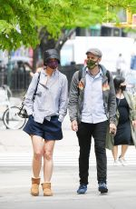 KATIE HOLMES Out with a Friend in New York 05/04/2021