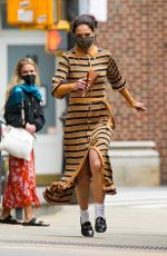 KATIE HOLMES Wearing a Face Mask Out in New York 05/03/2021