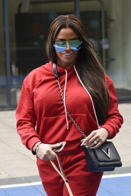 KATIE PRICE Leaves Steph's Packed Lunch TV Show in Leeds 05/12/2021