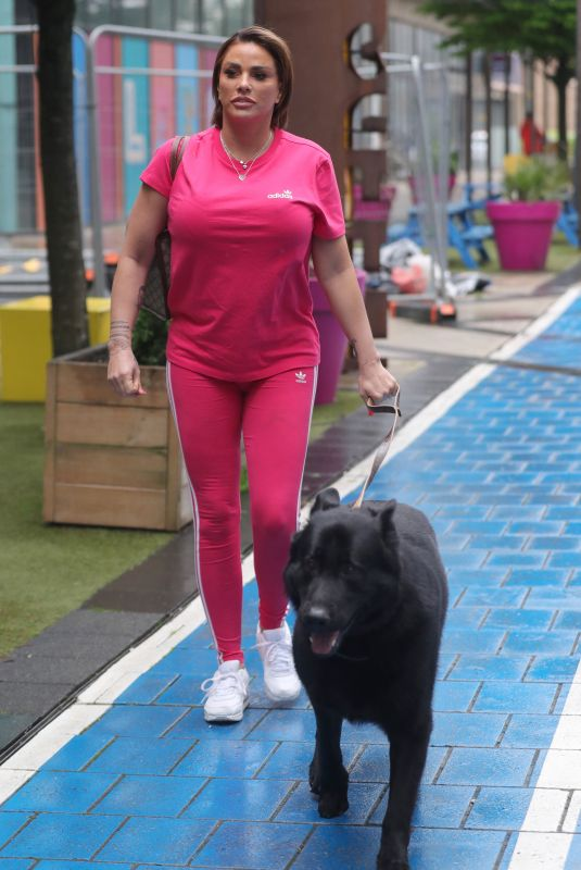 KATIE PRICE Out with Her Dog in Leeds 05/26/2021